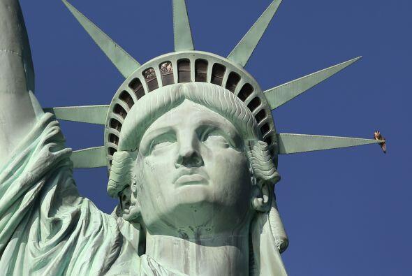 Regalo de Francia, la estatua fue concebida para simbolizar la amistad e...