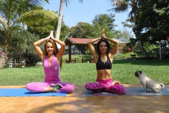 ¡Tan bella como flexible!... Mira las fotos de la rutina de yoga con la...