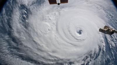 Ayuda que viene del espacio: la NASA comparte imágenes y datos para ayudar en la emergencia del huracán Florence