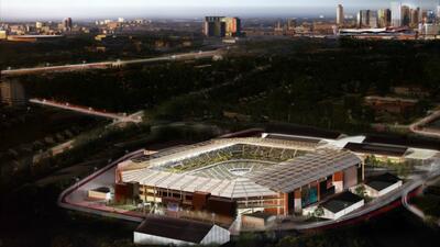 Así luciría el estadio de la MLS en Nashville.