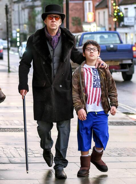 Nicolas Cage y su hijo Kal-El