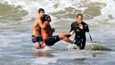 Un tiburón mordió a un nadador mientras trataba de soltarse de un anzuelo