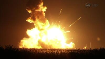 Explota cohete no tripulado de la NASA