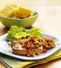 Chuletas de puerco con chile y elote: Para tu próxima cena en familia, c...