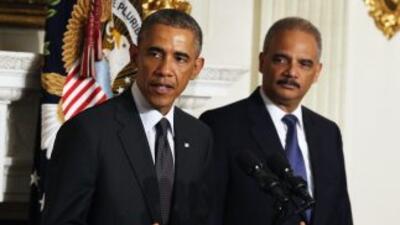El Presidente Barack Obama anuncia la renuncia del Fiscal General Eric H...