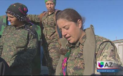 Mujeres armadas unidas contra ISIS