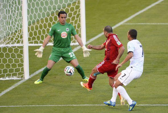 Tras el gol albiazul, la reacción egipcia no se hizo esperar y Meteab, o...