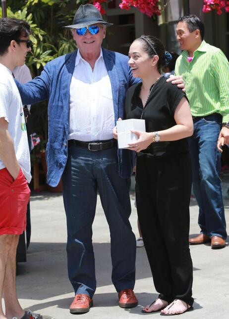Anthony Hopkins pasó el día del padre junto a su esposa Stella Arroyave