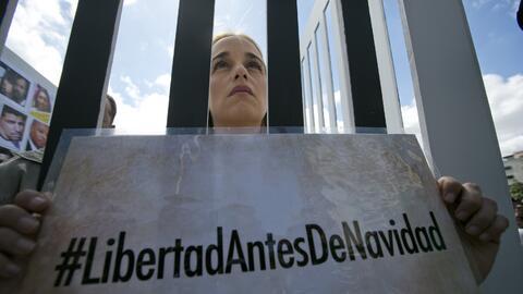 Lilian Tintori protesta por la liberación de Leopoldo López
