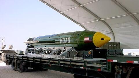 Este es el modelo de la bomba GBU-43B que Estados Unidos lanzó en...