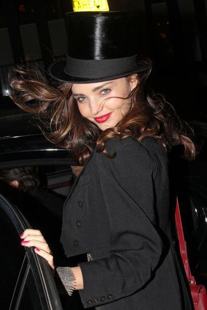 El angelito de Victorias's Secret, Miranda Kerr se lució con este atuend...