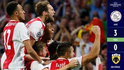 Ajax debuta en el Grupo E con importante triunfo sobre el AEK y un Tagliafico espectacular