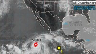 La tormenta Andrés.