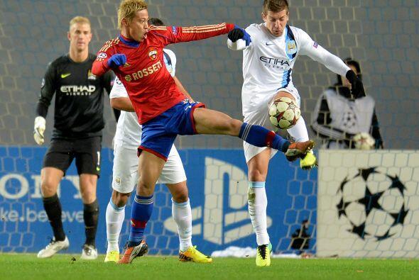 Horas antes, el CSKA Moscú recibió al Manchester City.