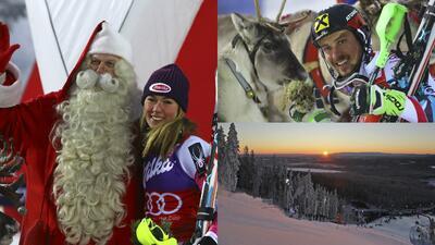 Paisajes y curiosidades en el Mundial de esquí alpino