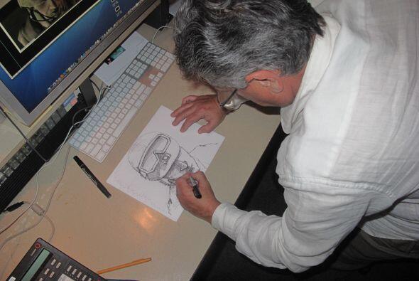 El trabajo del artista demoró varias horas ya que fueron varios los dibu...