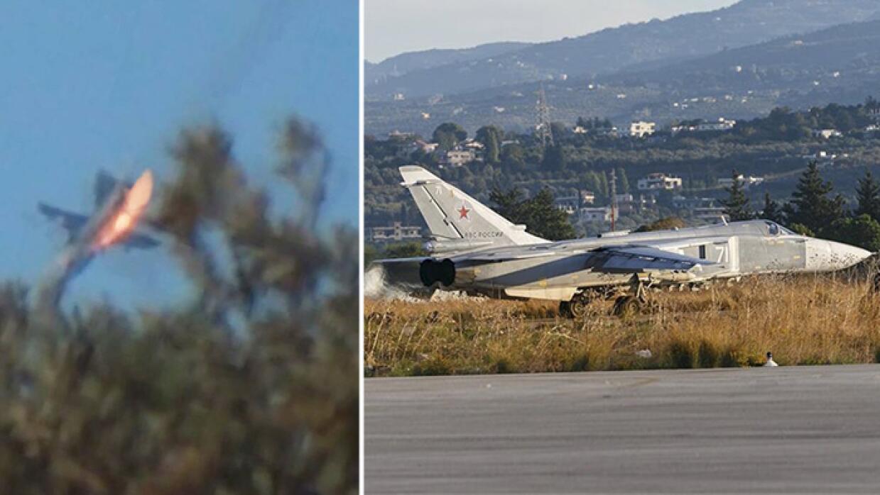 """Turquía derribó un caza ruso """"por violar el espacio aéreo"""""""