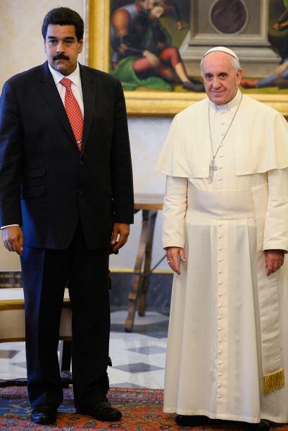 El presidente de Venezuela, Nicolás Maduro, fue recibido por el papa Fra...