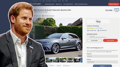 El príncipe Harry vende su carro en internet