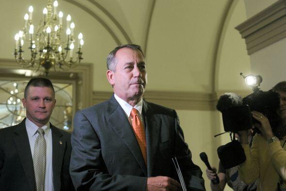 El miércoles, John Boehner se reunió con los republicanos antes de la vo...