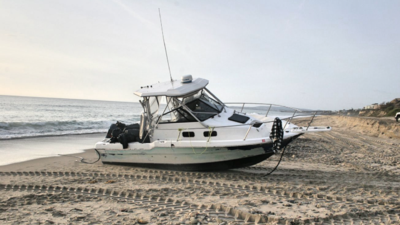 Marihuana a bordo, otra lancha abandonada en playas del sur de California