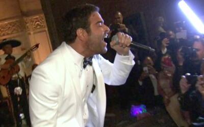 Pablo Montero terminó cantando a capela en la boda de Gelena y Steve
