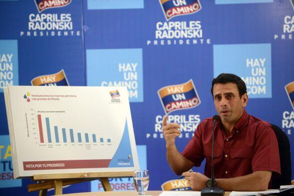 El candidato presidencial de la oposición venezolana, Henrique Ca...