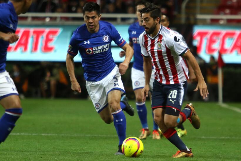 Cruz Azul venció 3-1 a Chivas en la fecha 2 del Clausura 2018 20180113-2...