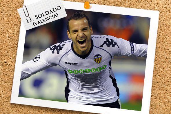 Por último, el español Roberto Soldado ha hecho que Valencia no extrañe...