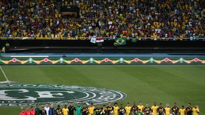 Así se vivió el partido Brasil-Colombia como homenaje al Chapecoense