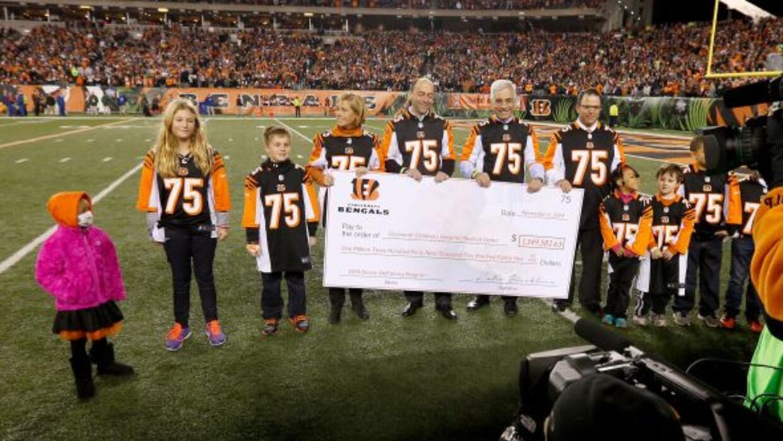 Los Bengals donaron $1.3 millones de dólares al Hospital de Niños de Cin...