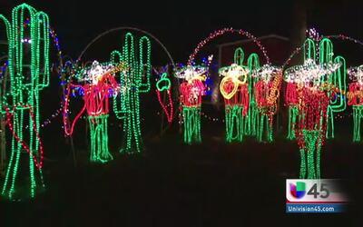 Festival de luces en Dickinson
