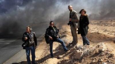 Reporteros estadounidenses en Libia.