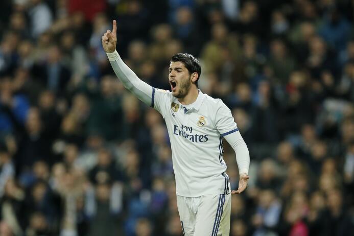 El español Álvaro Morata, tras un año en el banquillo del Real Madrid co...