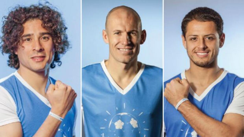 Guillermo Ochoa, Robben y Javier Hernández fueron algunos de los futboli...