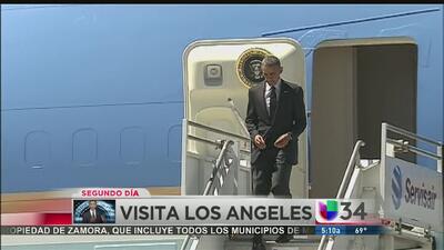 Segundo día de Obama en LA
