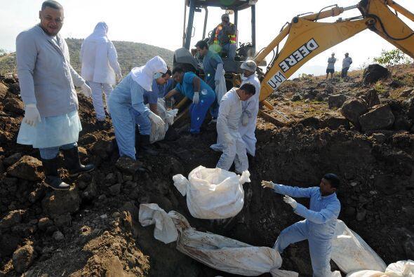Los cadáveres de 22 personas víctimas de la violencia y la...