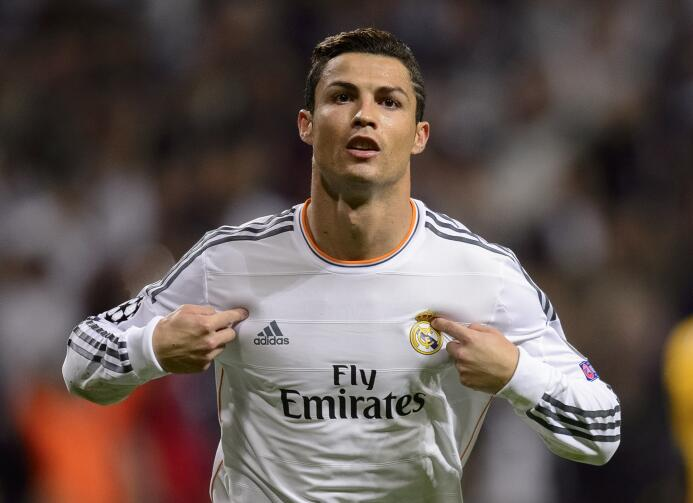 Temporada 2013/2014 - Cristiano Ronaldo (Real Madrid C.F.) con 17 goles.