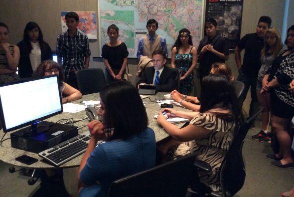 Los chicos participaron en la reunión editorial del equipo de Not...
