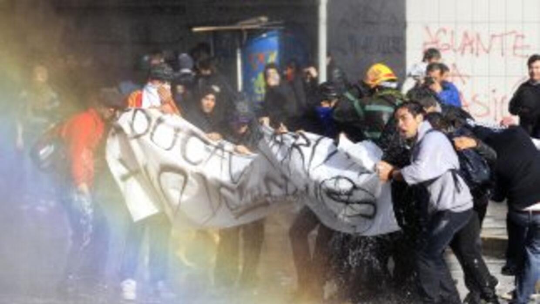 La huelga de estudiantes se inició en abril y hasta la fecha no han lleg...