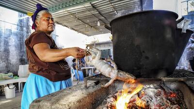 El pueblo mexicano donde se come tamales con carne de iguana en Semana Santa (fotos)