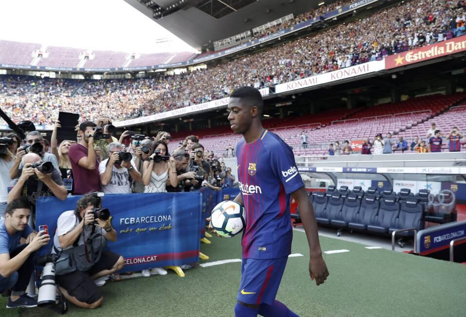Ousmane Dembélé vuelve a los entrenamientos con Barcelona 63639530074661...