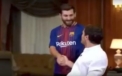 Iker Casillas fue sorprendido por 'Messi' y se le rio en la cara
