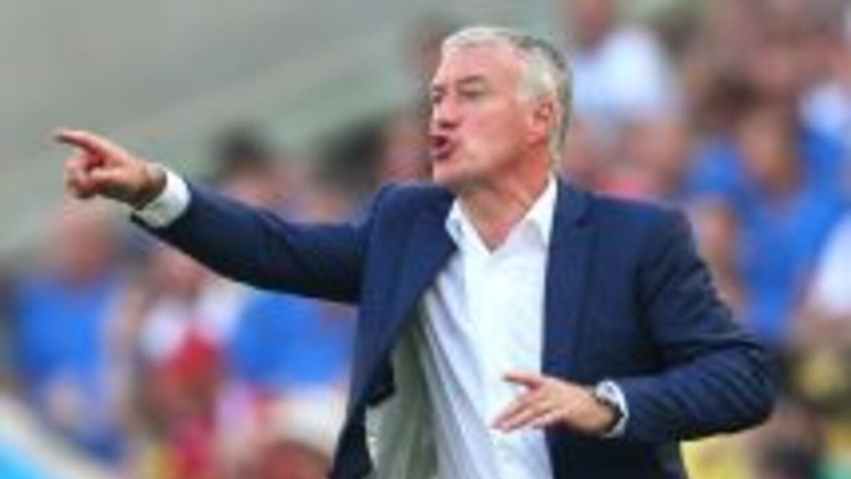 Didier Deschamps en el juego contra Alemania de cuartos de final de Bras...