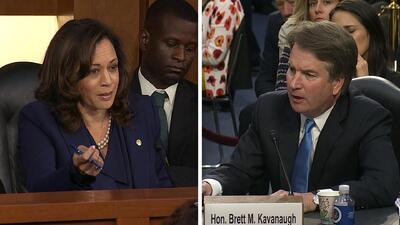 Los 4 momentos en los que la senadora Kamala Harris arrinconó al juez Kavanaugh