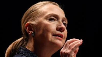 La secretaria de Estado de EEUU, Hillary Clinton.