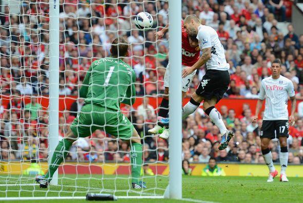 Y es que en el primer tiempo marcó un buen gol de cabeza ante Fulham.