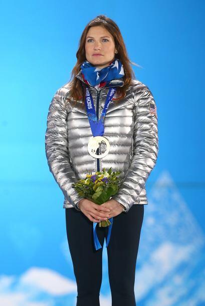 Julia Mancuso, medallista de bronce en esquí combinado, es una de...