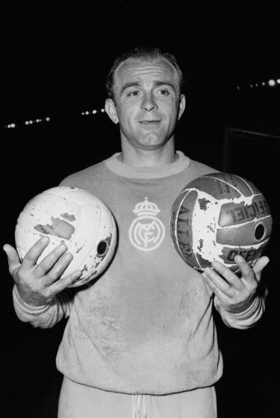 Alfredo Di Stéfano es el máximo ganador de los merengues con dos Balones...