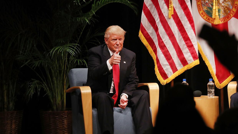 El look más tradicional de Donald Trump.